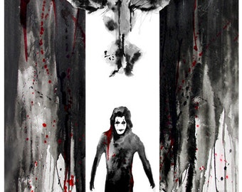 11x17 Water Color Print The Crow