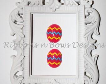 Easter Egg Resin Flatbacks - Set of 2