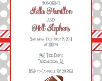Polka Dot with Stripes Alabama Invitation