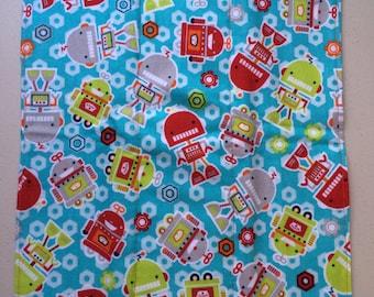 Bright Robot Flannel & Cotton Burp Cloth
