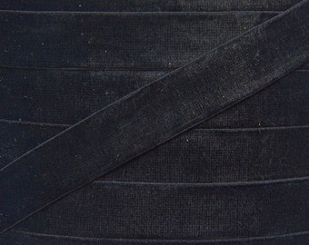 Black 5/8 inch Velvet Elastic - Elastic For Baby Headbands and Hair Ties - 5 Yards of 5/8 inch Velvet FOE