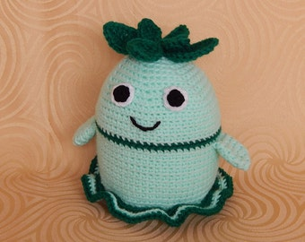 Amigurumi Crochet Pattern - Mint Monster  Pattern No.21