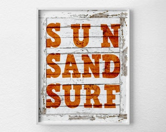 Surfing Print, Beach Art, Typography Poster, Surfing Art, Beach Sign, Surfing Poster, Surf Decor, Summer Decor, Summer Art, 0219