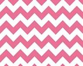 Riley Blake - 1 Yard Medium Chevron in Hot Pink