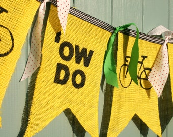 Handmade Tour de France Yorkshire Bunting 29th April to 1st May 2016