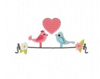 Spring Love Machine Embroidery Design