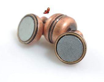Antiqued copper clasp Magnetic Clasp 7x11mm,10 Set