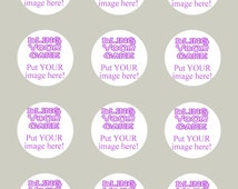 Design Your Own Personalized Edible Icing Single Image 2-inch Cake, Cookie and Cupcake Decor Toppers - DYO2S