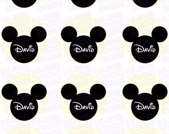 Disney Mickey Mouse Silhouette Inspired Edible Icing Cupcake Decor Toppers