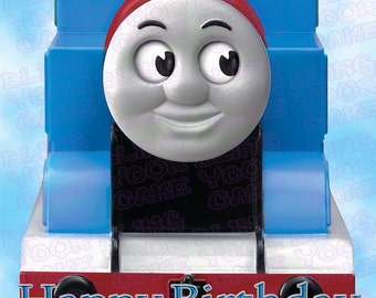 Thomas the Train Inspired Edible Icing Quarter Sheet Cake Decor Topper -TT9