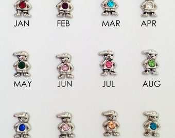 Girl and Boy Birthstone charms