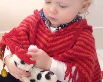 pdf KNITTING PATTERNS baby poncho 0-6m 6-12m 1-2 yrs ' stripe poncho'