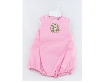 Pink Gingham Bubble - 6M