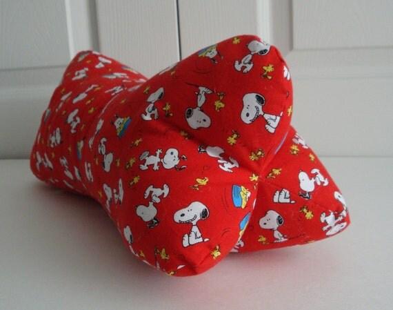 Snoopy Woodstock Peanuts Dog Bone Shaped Contoured Neck Pillow
