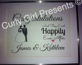 Wedding Present Personalised Keepsake Sparkly Celebration Gift