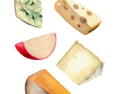 Cheese Art // Food Illustration // Archival Art Print