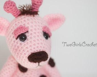 Crochet Giraffe Amigurumi Toy (Jenna) - Made to Order