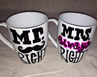 Mr. & Mrs. Coffee cups