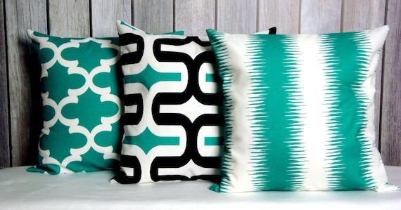 Accent Pillows. Green Pillows. Modern Pillows. 16x16 Pillow Covers. Throw Pillows