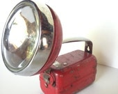 Red industrial railroad flashlight 1940s