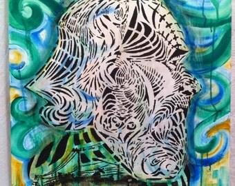 M.C. Escher Head