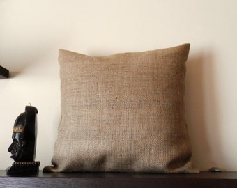 20''x20'' Burlap pillow cover