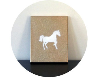 W H I S K E Y & I C E | Horse Canvas