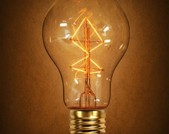 SALE! Edison Bulb 40 Watt Antique Light Victorian Vintage Edison Z Shape Filament  40 Watt