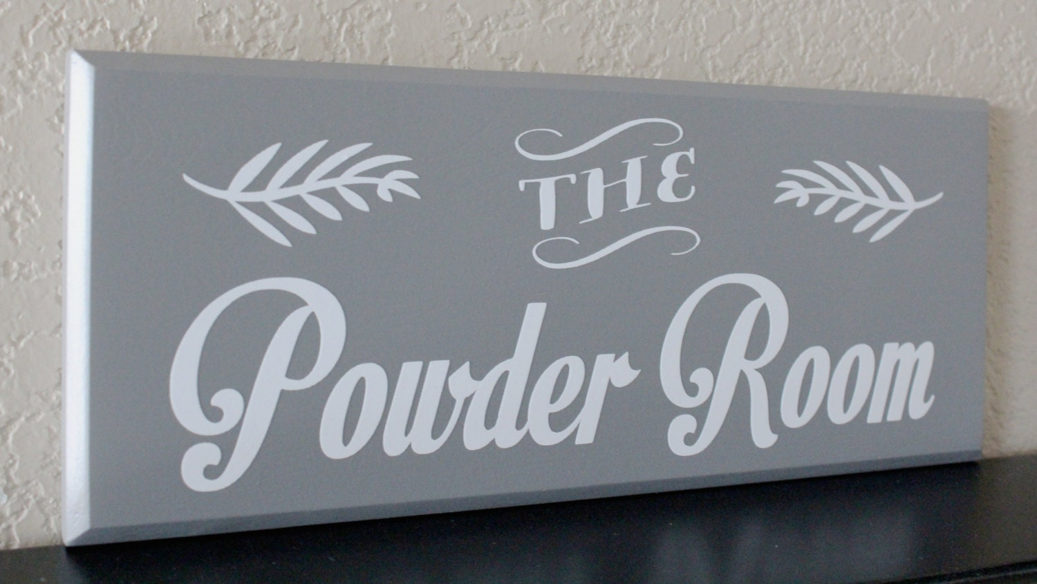 the powder room powder room sign bathroom sign by