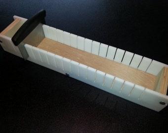 5 Lb Adjustable Soap Mold Bar Cutter Slicer Cold or Hot Process Loaf Wooden Wood