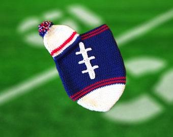 Buffalo Fan Favorite Baby Boy Football Cocoon & Hat (Newborn to 3 months)