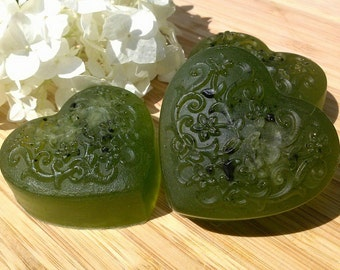 Green Tea Glycerin Heart Soap - Vegan