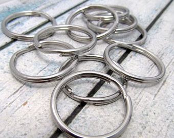 28mm Split Ring - Stainless Steel Split Rings - SST Findings 28mm stainless steel key ring Solid Stainless Steel(096)