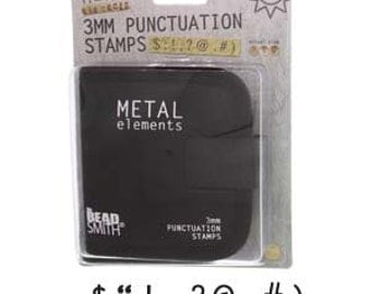3mm Punctuation Metal Stamping Kit - 3mm Characters