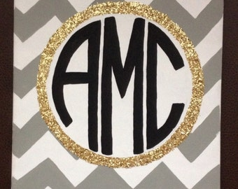 11x14 Monogram Canvas