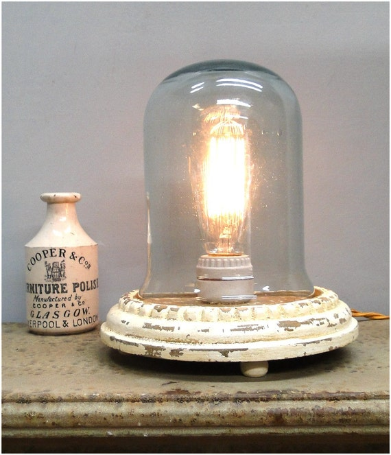 antique replica thomas edison light bulb dome glass table lamp. Black Bedroom Furniture Sets. Home Design Ideas