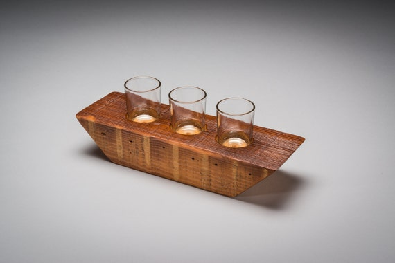 Reclaimed wood votive holder candle rustic