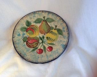 Ceramic dish with fruit design