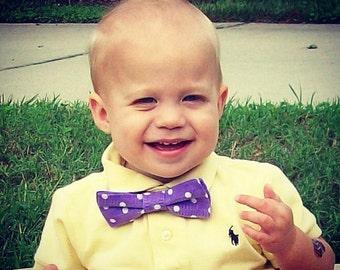 Blue polka dot bow tie,  orange bow tie, purple bow tie, green bow tie, pink bow tie, Easter bow tie, boys bow tie, blue bow tie,