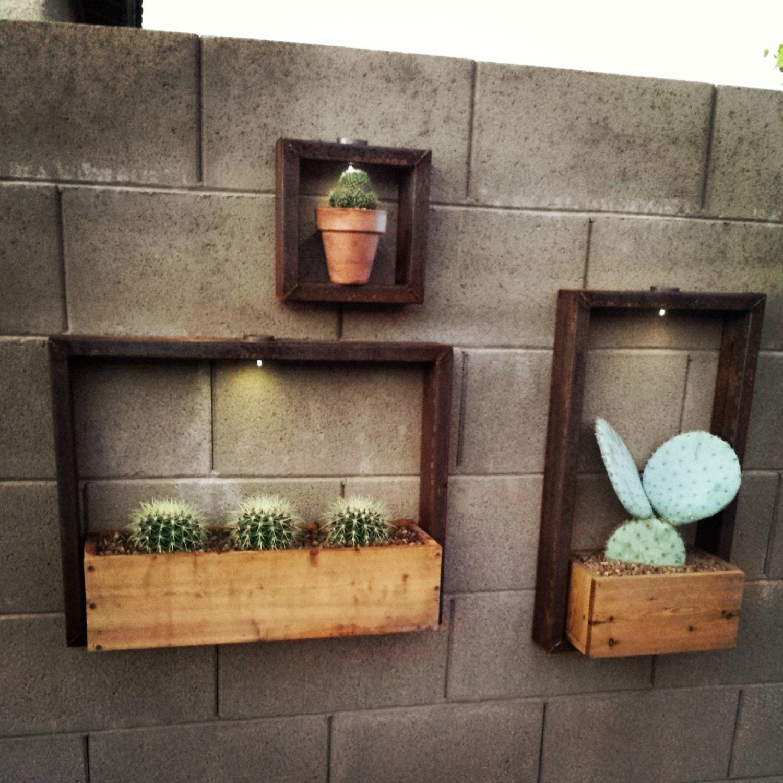 Custom Solar Lit Metal Hanging Outdoor Garden Planter Frame