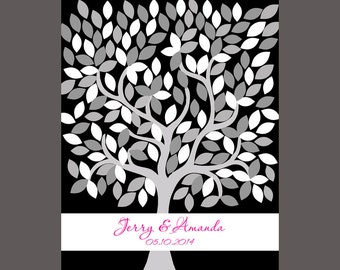 Signature Wedding Tree, Tree Guest Book, Alternative Guestbook, Signature Tree Print,  Guestbook Keepsake, Signature Wall Print, Signatures