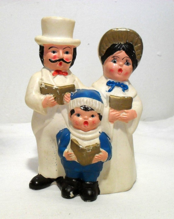 Vintage christmas carolers figurines