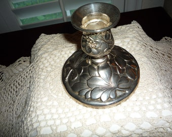 Floral Tapered Candleholder