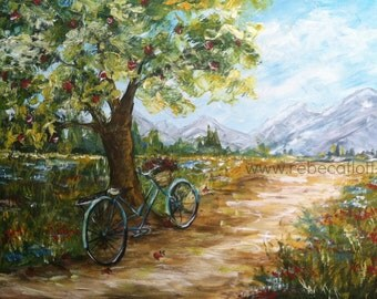 Resting Place ,original art, hand painting ,acrylic on canvas