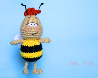 Maya the Bee Kawaii Amigurumi crochet doll Handmade Crochet