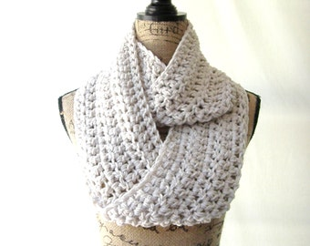 Infinity Scarf Wheat Infinity Crochet Scarf Cowl Loop Circle Accessory