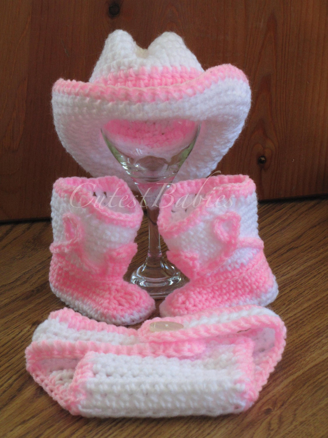 Free Crochet Patterns For Baby Owl Hat : Newborn Baby Crochet Cowboy/ Cowgirl Hat Boots & Diaper Cover
