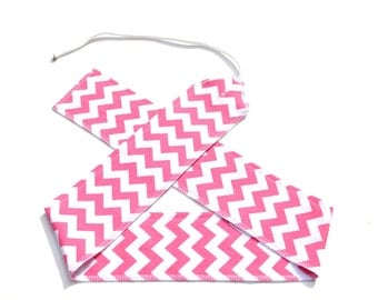 Pink Chevrons - Weight Lifting Wrist Wraps