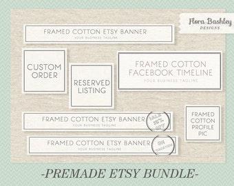 Etsy Banner Premade Bundle - FBB006, You'll receive 7 designs