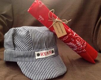 Train Hat, Train Outfit, Train Engineer Costume, Toddler Boy, Train Gift Set, Train Hat, Choo Choo I'm 2, Train Birthday, Personalized Train